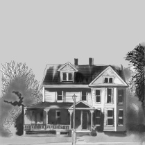old-colonial-house-sketch